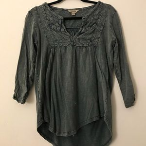LUCKY BRAND Chambray Top